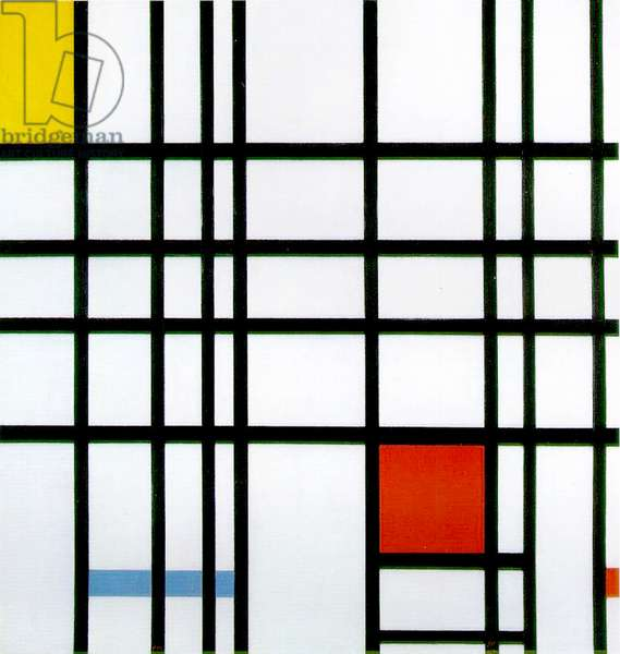 Composition with Red, Yellow and Blue, 1921 (oil on canvas)