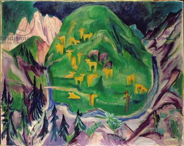 Field of Livestock, 1918 (oil on canvas)