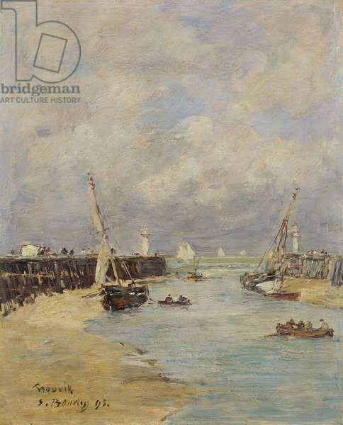 Low Tide at Trouville, 1895 (oil on panel)