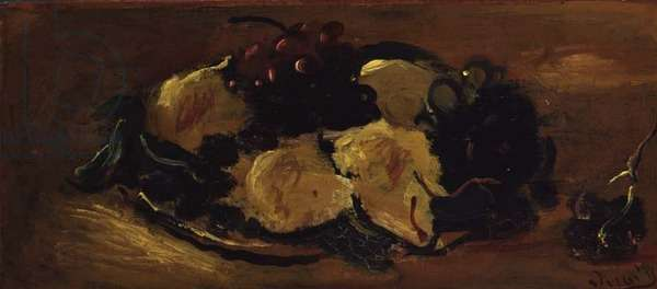 Still Life with Fruit, c.1925 (oil on paper)