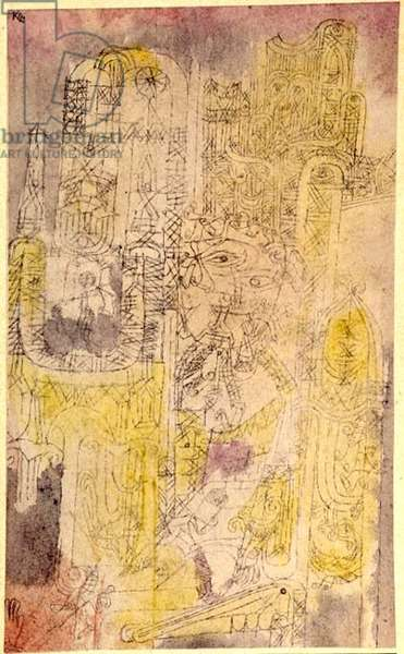 Gothic Rococo, 1919 (no 67) (pen & w/c on paper on cardboard)