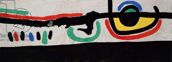 The Flight Towards the Sun, 1970 (gouache on paper)