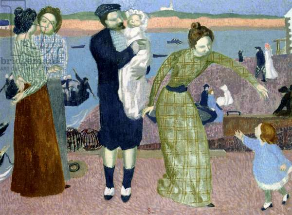 Parisians at the Seaside, 1899 (oil on canvas)
