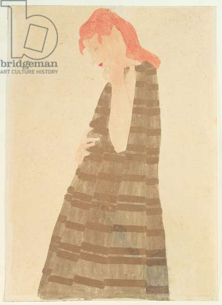 Woman in a Golden Cape, 1908 (w/c on paper)