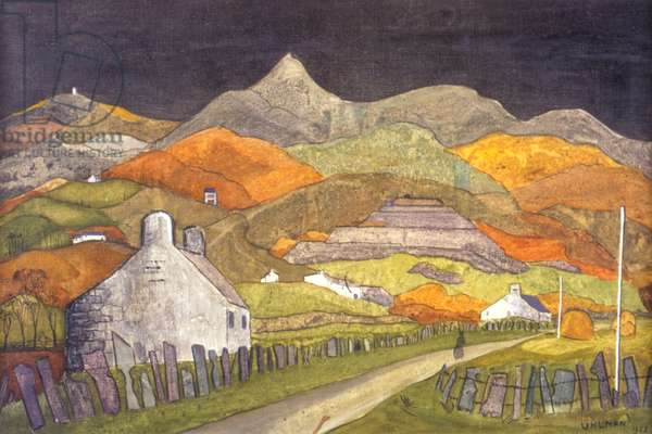 Welsh Hills, 1958 (oil on canvas)