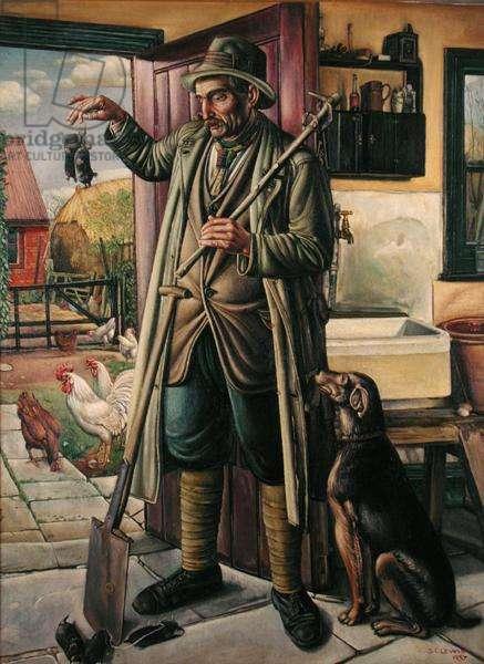 The Welsh Molecatcher, 1937 (oil on canvas)