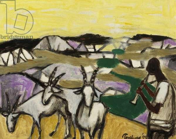 Goat-herd, 1959 (oil on canvas)