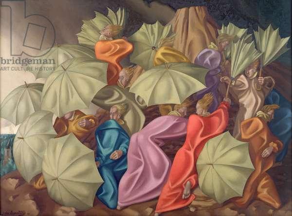 The Struggle of Faith, 1951 (oil on canvas)