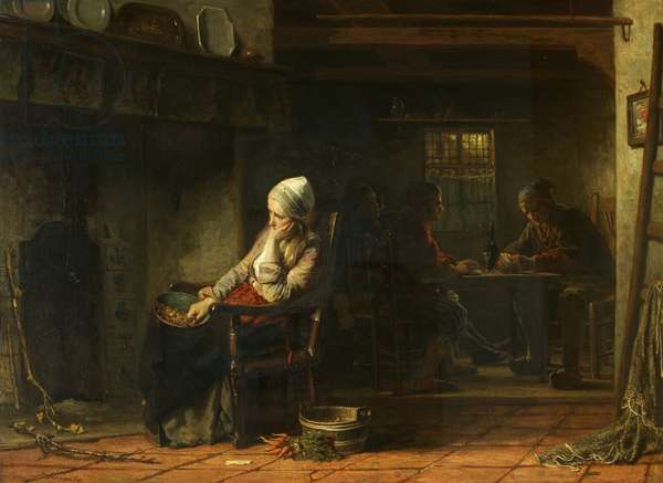 An Unhappy Woman, or Domestic Sorrows, 1859 (oil on canvas)