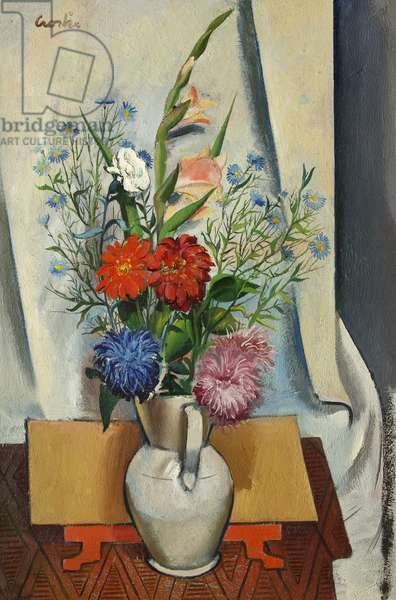 Asters and White Carnation, 1934 (oil on canvas)