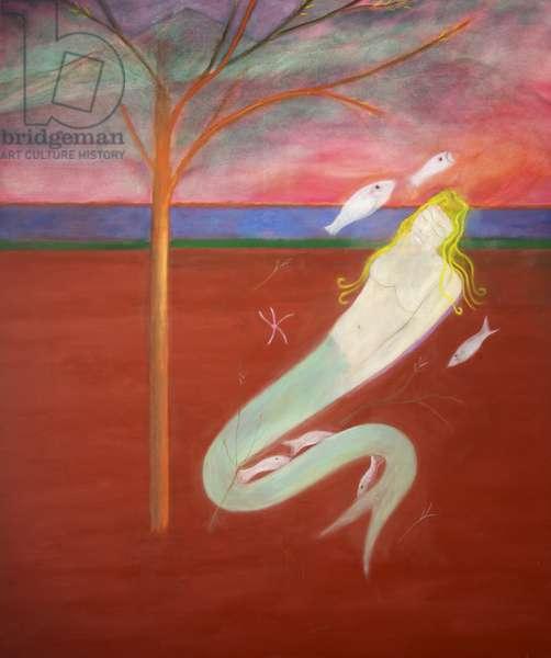 Mermaid, 1973 (oil on canvas)