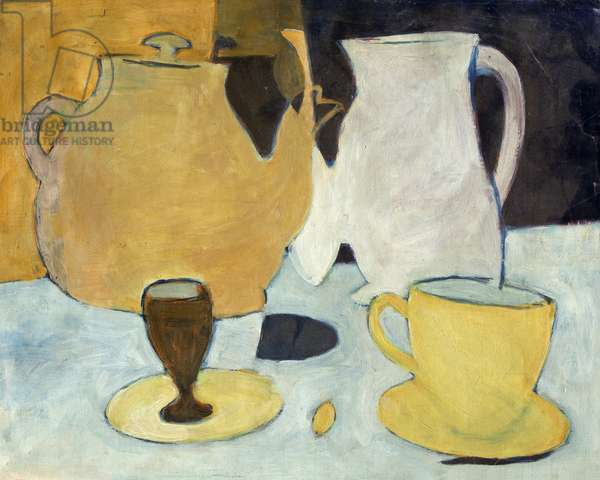 Still Life with Teapot, 1947 (oil on canvas)