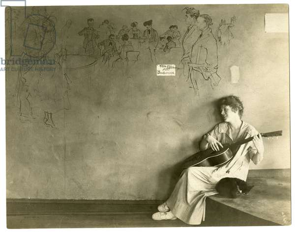Grace Godwin's Garret, Greenwich Village, New York, USA, c.1917-18 (gelatin silver photo)