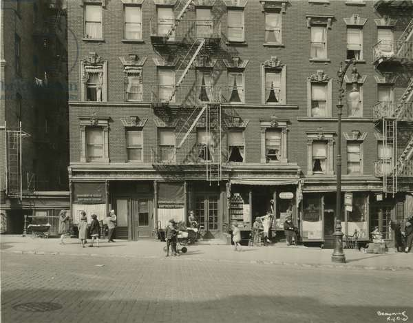 205-207 East 96th Street, between Second and Third Avenues, New York, USA, c.1920-38 (gelatin silver photo)