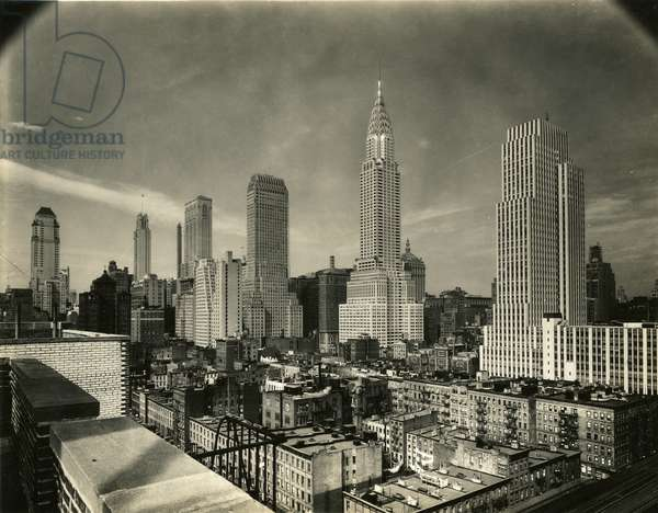 New York Skyline, including Chrysler Building, and 500 Fifth Avenue, c.1931-38 (gelatin silver photo)