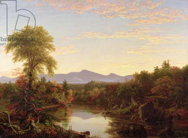 Catskill Creek, New York, 1845 (oil on canvas)