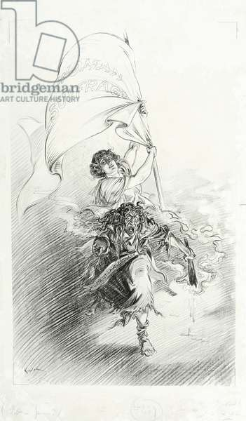 Woman Suffrage / Militant Lawlessness, 1913 (litho)