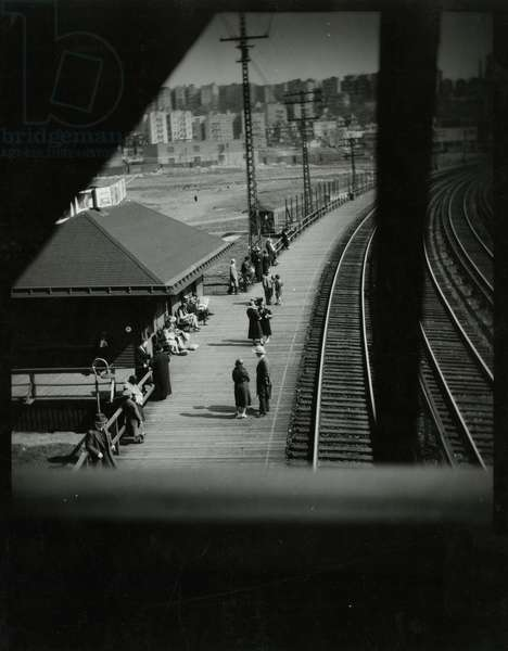 Morrisania Train Station, New York Central R.R, Bronx, New York, USA, 1934 (gelatin silver photo)