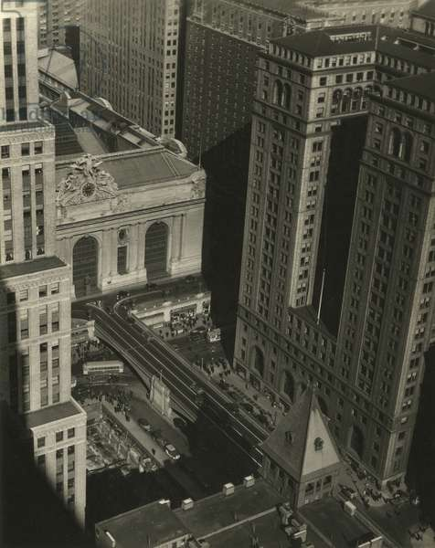 Grand Central Terminal and Park Avenue Tramway, 42nd Street and Vanderbilt Avenue, New York City, USA, c.1920-38 (gelatin silver photo)