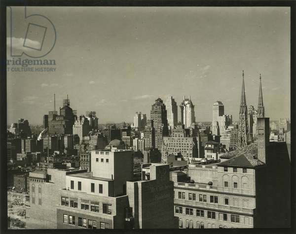 View of rooftops, northwest toward 59th Street, New York, USA, c.1920-38 (gelatin silver photo)