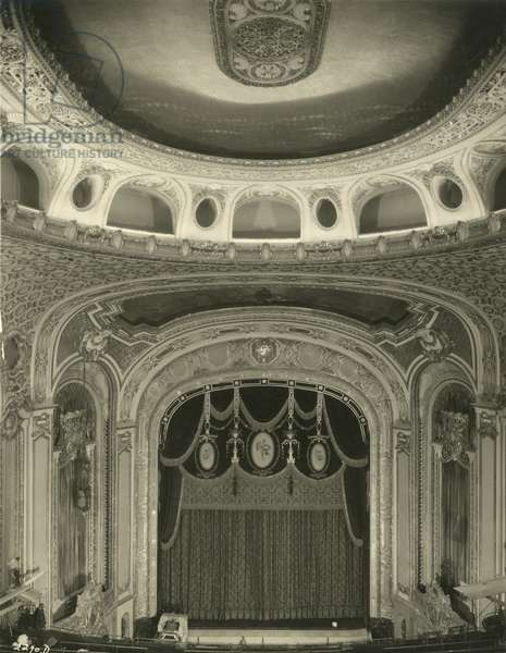 Paramount Theatre - rear of the proscenium arch from the rear of the balcony, December, 1926, New York, USA, 1926 (gelatin silver photo)