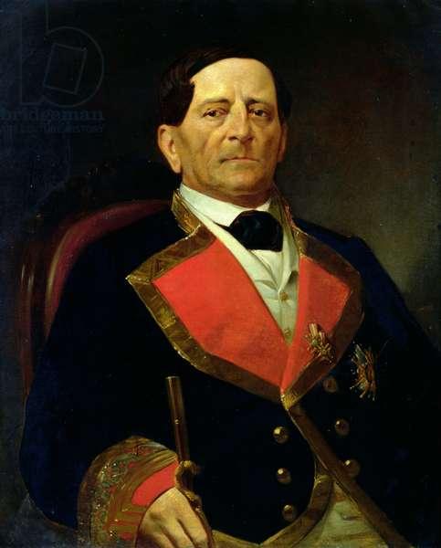 Portrait of Antonio Lopez de Santa Ana (1794-1876), c.1858 (oil on linen)