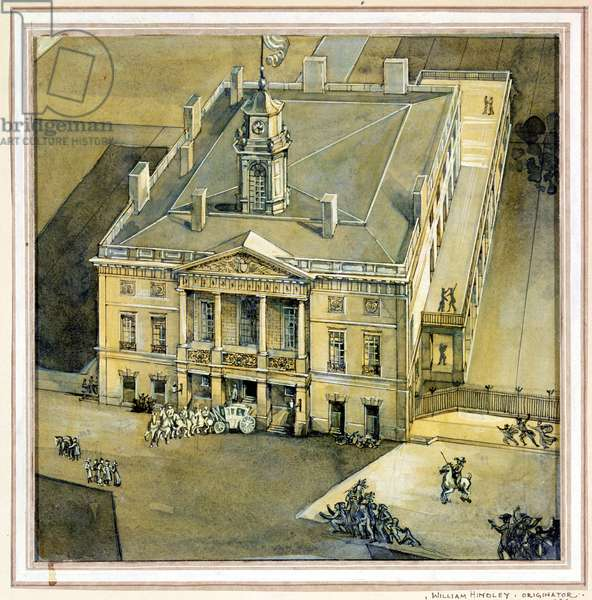 Bird's-eye View of Federal Hall, New York, 1936 (w/c and gouache on paper)