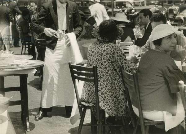 Chatham Walk open-air restaurant, E.48th Street, NYC, 1930, New York, USA, 1930 (gelatin silver photo)