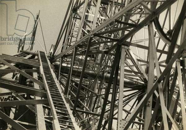 Coney Island rollercoaster, New York, USA, c.1920-38 (gelatin silver photo)