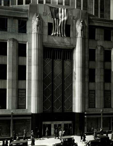 Empire State Building, Main Entrance, New York, USA, c.1931-38 (gelatin silver photo)