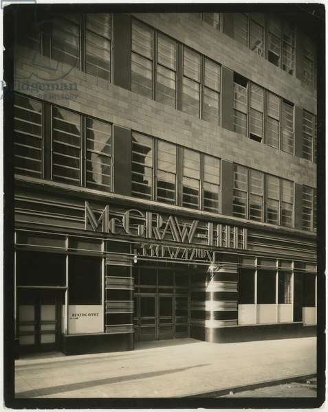 McGraw-Hill Building, 330 West 42nd Street, entrance, c.1930-38 (gelatin silver photo)