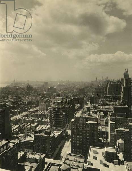 Manhattan rooftop views, New York, USA, c.1920-38 (gelatin silver photo)