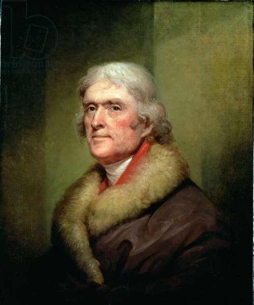Portrait of Thomas Jefferson, 1805 (oil on canvas)