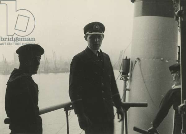 Sailors aboard a steamship, New York Harbor, 1928, New York, USA, 1928 (gelatin silver photo)