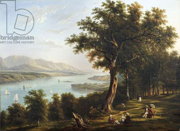 View from Hyde Park on the Hudson River, 1845 (oil on canvas)