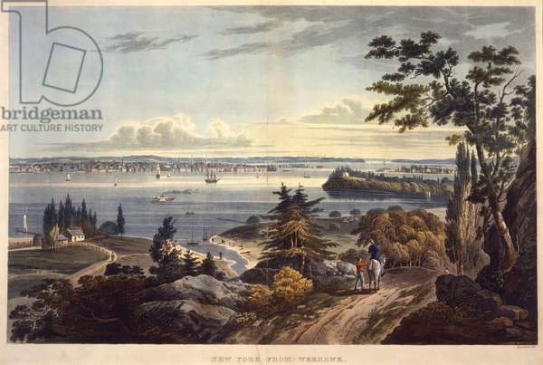 New York from Weehawk [Weehawken], engraved by John Hill, undated (aquatint)