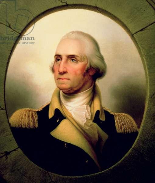 Portrait of George Washington, 1853 (oil on canvas) (see 153884)