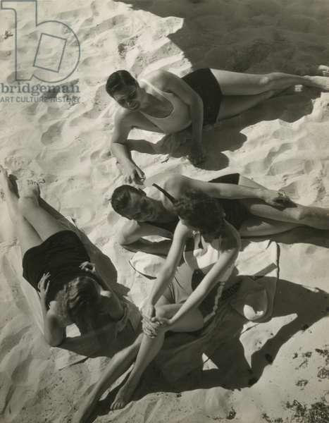 Sun bathing, Bermuda, 1932, USA, 1932 (gelatin silver photo)