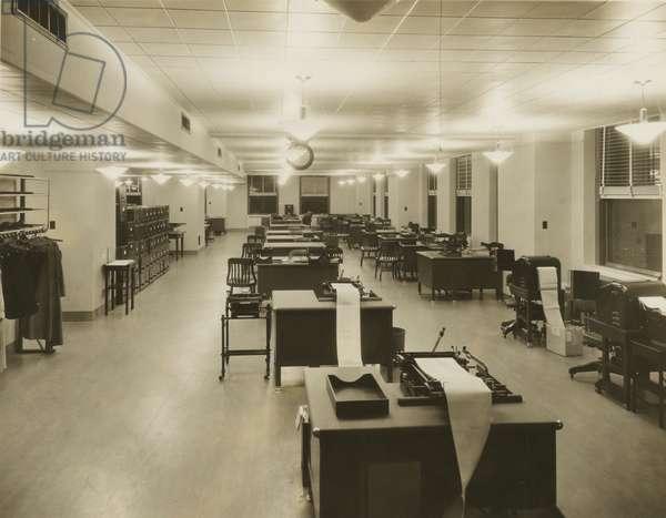 Empire State Building, office interior, New York, USA, c.1920-38 (gelatin silver photo)