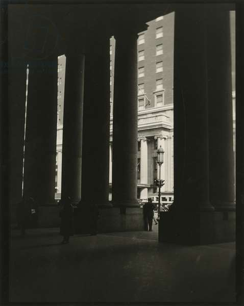 Penn Station entrance, Seventh Avenue between 31st and 33rd Street, New York, USA, c.1920-38 (gelatin silver photo)