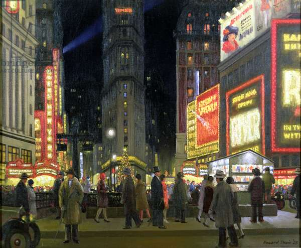 The Great White Way, Times Square, 1925 (oil on canvas)