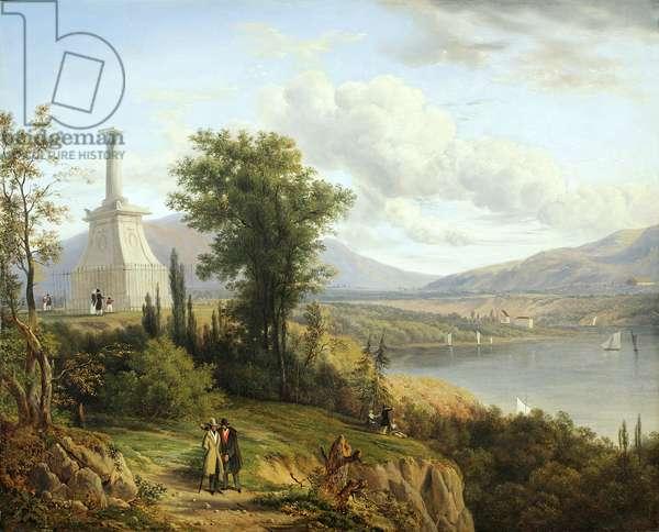 Kosciuszko's Monument, West Point, 1845 (oil on canvas)