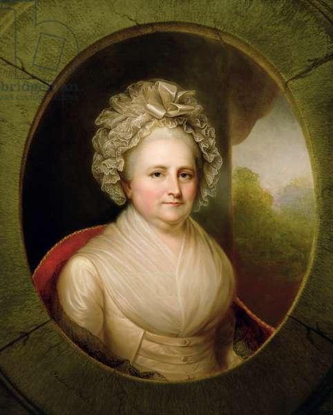 Portrait of Martha Washington (oil on canvas) (see 153883)