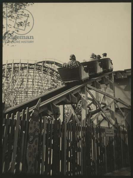 Coney Island, New York - rollercoaster, New York, USA, c.1920-38 (gelatin silver photo)