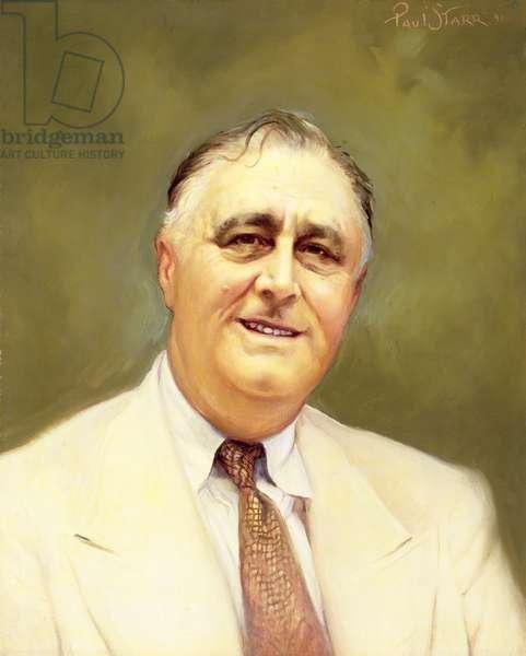 Franklin Delano Roosevelt (1882-1945), 1941 (oil on canvas)