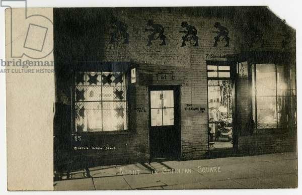 Night in Sheridan Square, Greenwich Village, New York, USA, c.1918-19 (gelatin silver photo)