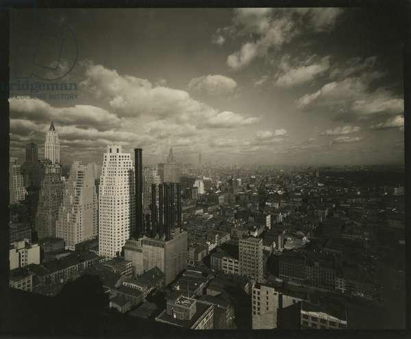 New York skyline, northwest from Wall Street, New York, USA, c.1920-38 (gelatin silver photo)