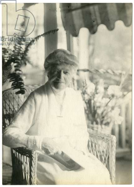 Mrs L D James of Williamsburg Massachusetts, sister of Marshall Field, c.1905-28 (gelatin silver photo)