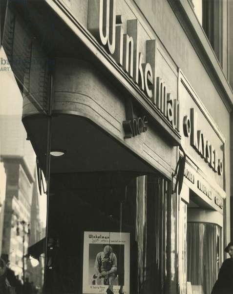 Winkelman Shoe, sign, New York, USA, c.1920-38 (gelatin silver photo)