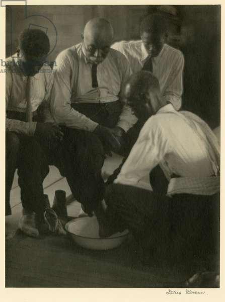 Foot Washing, South Carolina, c.1929 (b/w photo)
